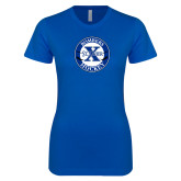 Next Level Ladies SoftStyle Junior Fitted Royal Tee-Hockey Design