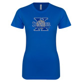 Next Level Ladies SoftStyle Junior Fitted Royal Tee-St Xavier Volleyball