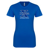 Next Level Ladies SoftStyle Junior Fitted Royal Tee-Athletics