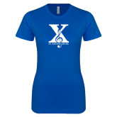 Next Level Ladies SoftStyle Junior Fitted Royal Tee-St Xavier Music