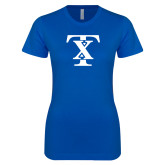 Next Level Ladies SoftStyle Junior Fitted Royal Tee-TX