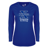 Ladies Syntrel Performance Royal Longsleeve Shirt-Swimming and Diving