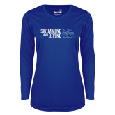 Ladies Syntrel Performance Royal Longsleeve Shirt-Swimming and Diving Stacked