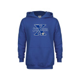 Youth Royal Fleece Hoodie-Soccer Design