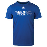 Adidas Royal Logo T Shirt-Swimming and Diving Stacked