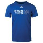 Adidas Royal Logo T Shirt-Swimming and Diving Stacked