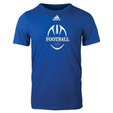 Adidas Royal Logo T Shirt-Football Unisex