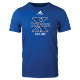 Adidas Royal Logo T Shirt-Rugby
