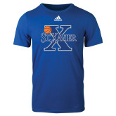 Adidas Royal Logo T Shirt-Basketball Ball Design