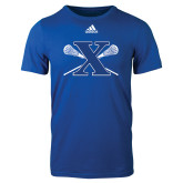 Adidas Royal Logo T Shirt-Lacrosse Design