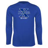 Syntrel Performance Royal Longsleeve Shirt-Rugby