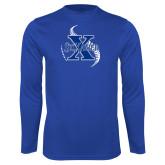 Syntrel Performance Royal Longsleeve Shirt-St Xavier Baseball