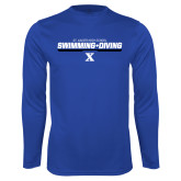 Performance Royal Longsleeve Shirt-Swimming and Diving Stencil