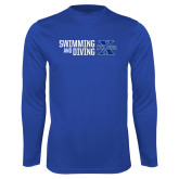 Syntrel Performance Royal Longsleeve Shirt-Swimming and Diving Stacked