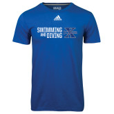 Adidas Climalite Royal Ultimate Performance Tee-Swimming and Diving Stacked