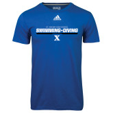 Adidas Climalite Royal Ultimate Performance Tee-Swimming and Diving Stencil