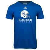 Adidas Climalite Royal Ultimate Performance Tee-Bomber Football Helmet