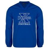 V Neck Royal Raglan Windshirt-Football