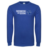 Royal Long Sleeve T Shirt-Swimming and Diving Stacked