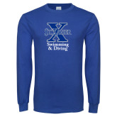 Royal Long Sleeve T Shirt-Swimming and Diving