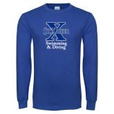 Royal Long Sleeve T Shirt-Swimming and Diving