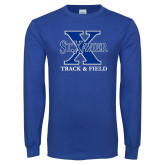 Royal Long Sleeve T Shirt-Track and Field