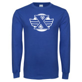 Royal Long Sleeve T Shirt-Cross Country Design