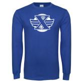 Royal Long Sleeve T Shirt-Cross Country Design