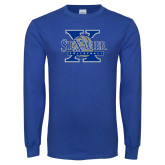 Royal Long Sleeve T Shirt-St Xavier Volleyball