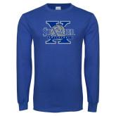Royal Long Sleeve T Shirt-St Xavier Volleyball