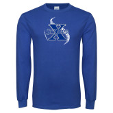 Royal Long Sleeve T Shirt-St Xavier Baseball