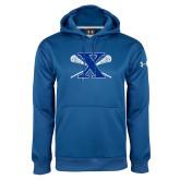Under Armour Royal Performance Sweats Team Hoodie-Lacrosse Design