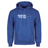 Royal Fleece Hoodie-Swimming and Diving Stacked