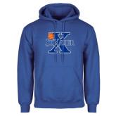 Royal Fleece Hoodie-Basketball Ball Design