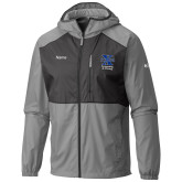 Senior Item - Columbia Flash Forward Grey/Black Wind Jacket-Swimming and Diving