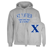 Senior Item -  Grey Fleece Hoodie-Swimming and Diving