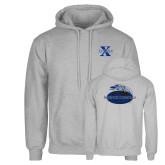 Grey Fleece Hoodie-St Xavier