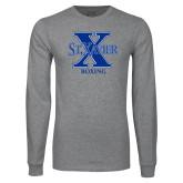 Grey Long Sleeve T Shirt-Boxing