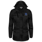 Ladies Black Brushstroke Print Insulated Jacket-Ice Hockey