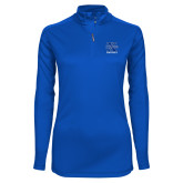 Ladies Syntrel Interlock Royal 1/4 Zip-Football