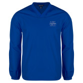 V Neck Royal Raglan Windshirt-St Xavier