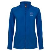 Ladies Fleece Full Zip Royal Jacket-Lacrosse