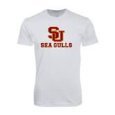 Next Level SoftStyle White T Shirt-SU Sea Gulls
