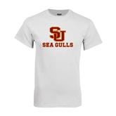 White T Shirt-SU Sea Gulls