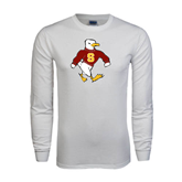 White Long Sleeve T Shirt-Sammy the Sea Gull