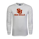 White Long Sleeve T Shirt-SU Sea Gulls