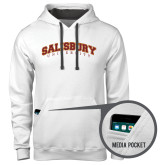 Contemporary Sofspun White Hoodie-Arched Salisbury University