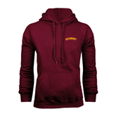Maroon Fleece Hoodie-Arched Salisbury University