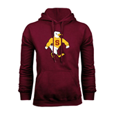 Maroon Fleece Hoodie-Sammy the Sea Gull