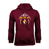 Maroon Fleece Hoodie-Graphics in Basketball